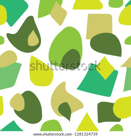 Spring summer colors seamless pattern. Modern ikea style background.