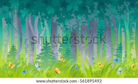 spring summer forest wood