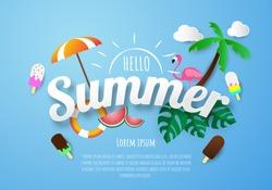 Spring Summer poster, banner  vector illustration and design for poster card,