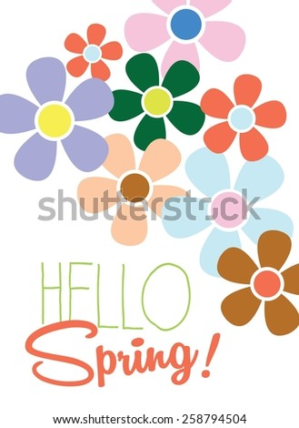 spring template   poster   card