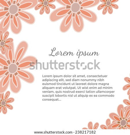Spring template with flowers, editable vector illustration. #238217182