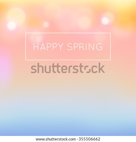 Spring theme background blurred highlights.