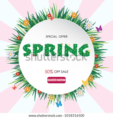 spring time sale banner and