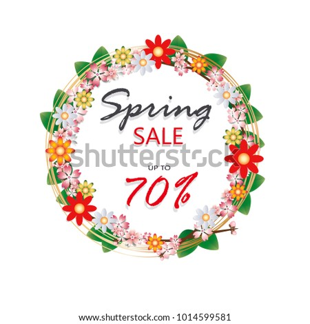 spring time sale banner with