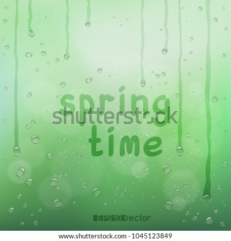 spring time text on green