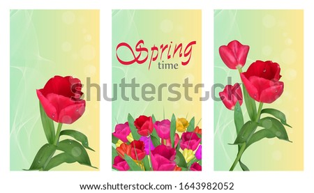 spring time vertical banners