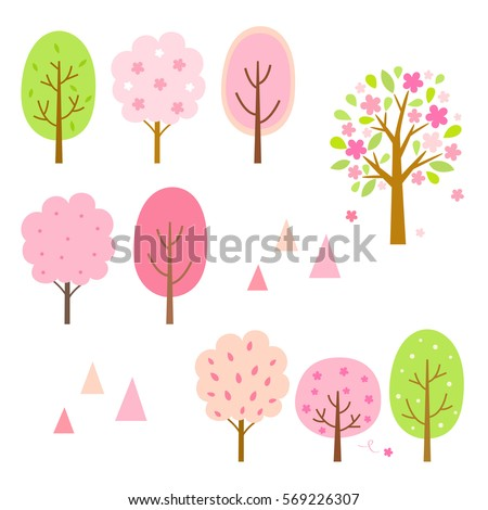 spring trees elements