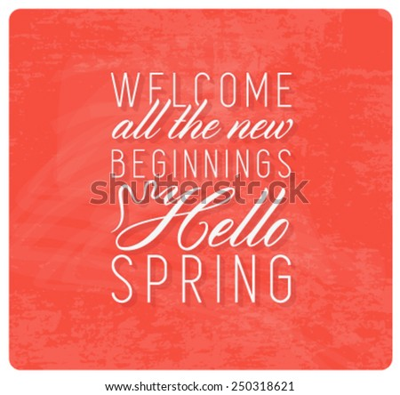 spring typography background in