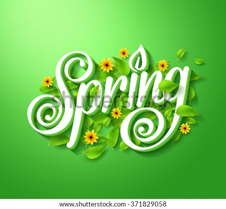 spring typography title concept
