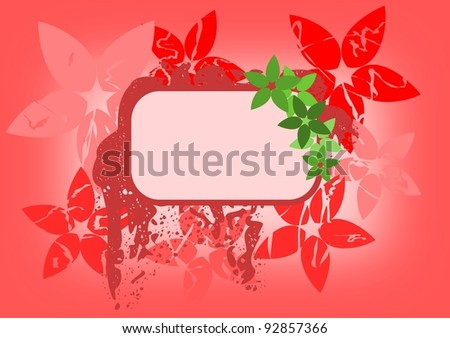 Spring vector background with copy space