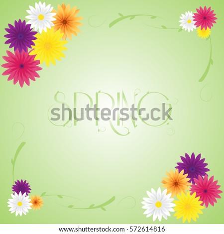 spring vector greeting card design,spring background,spring label,spring flower,spring sale