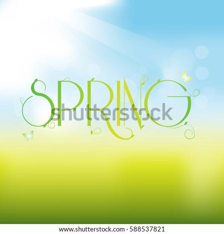 spring vector greeting card