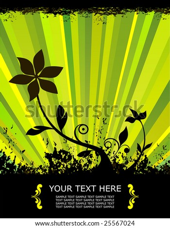 spring vector illustration of a flower growing from the ground