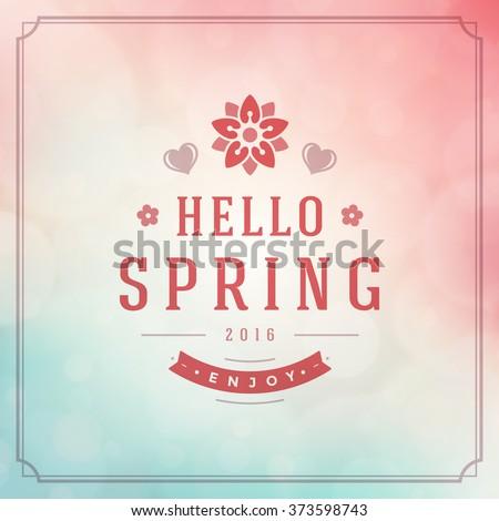 spring vector typographic