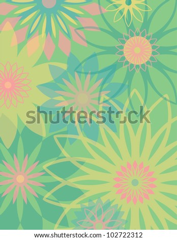 Springtime Flowers pastel floral background. AI 10 file has transparency and flowers have clipping mask.
