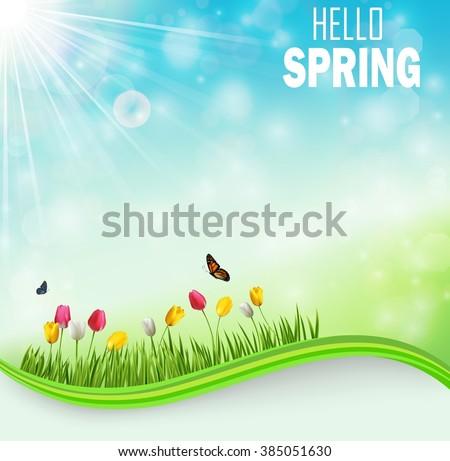 springtime meadow background