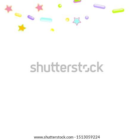 Sprinkle confetti. Sprinkles Grainy.