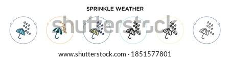 sprinkle weather icon in filled