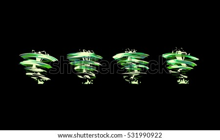 sprite sheet of a green tornado