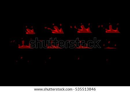 sprite sheet of blood splashes