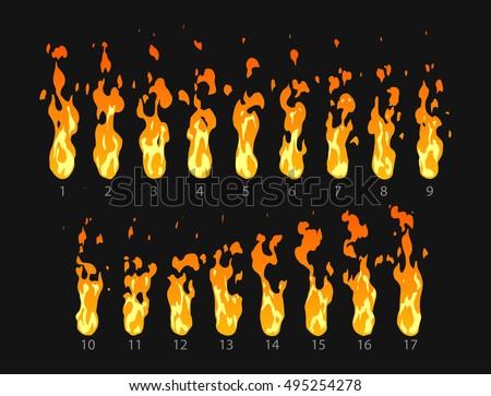 sprite sheet of fire  torch