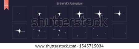 Sprite Sheets Shine VFX Ready Animation for games or cartoon. - Illustration - Vector EPS 10