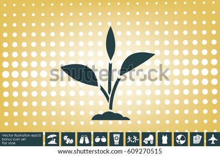 sprout icon vector illustration