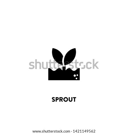 sprout icon vector. sprout sign on white background. sprout icon for web and app ストックフォト ©
