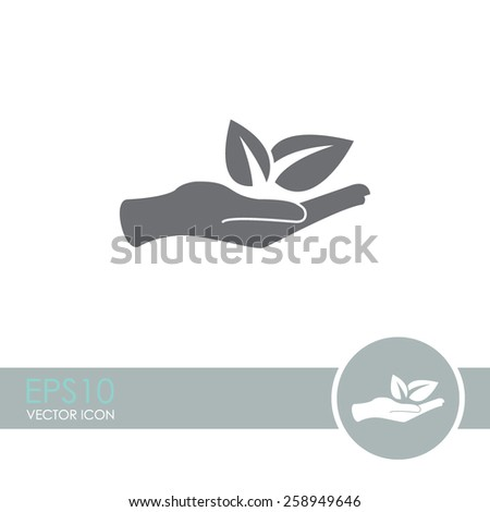 sprout in a hand sign of