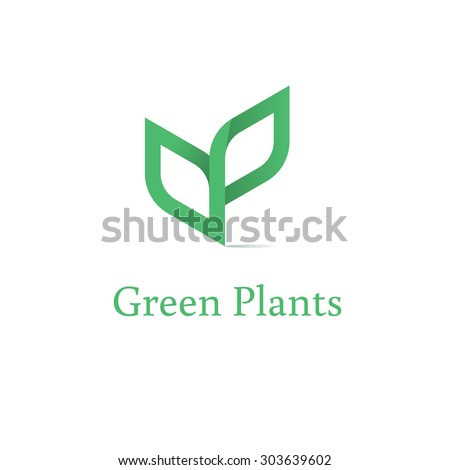 sprout mockup eco logo  green