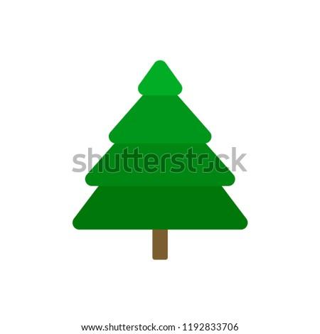 Spruce. Plant. Tree. Logo of the Christmas tree. Vector illustration. EPS 10. #1192833706