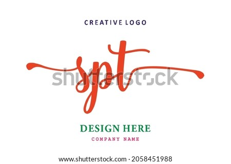 SPT lettering logo is simple, easy to understand and authoritative