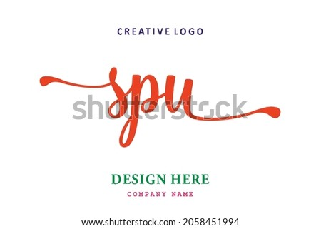 SPU lettering logo is simple, easy to understand and authoritative