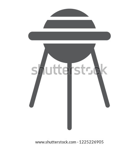 Sputnik glyph icon, space and shuttle, satellite sign, vector graphics, a solid pattern on a white background, eps 10.