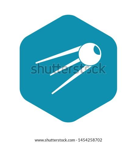 Sputnik icon. Simple illustration of sputnik vector icon for web