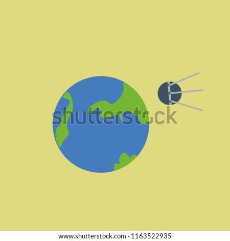 Sputnik icon vector