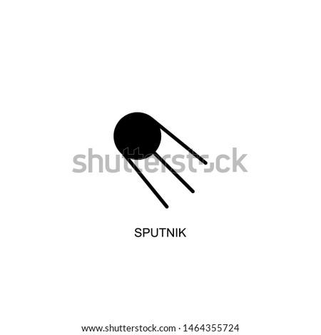 sputnik icon vector black design
