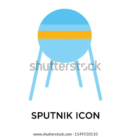 Sputnik icon vector isolated on white background for your web and mobile app design, Sputnik logo concept