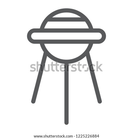 Sputnik line icon, space and shuttle, satellite sign, vector graphics, a linear pattern on a white background, eps 10.