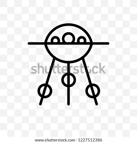 Sputnik vector linear icon isolated on transparent background, Sputnik transparency concept can be used for web and mobile