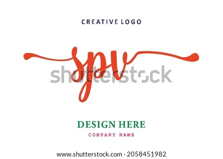 SPV lettering logo is simple, easy to understand and authoritative