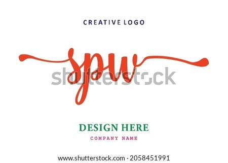 SPW lettering logo is simple, easy to understand and authoritative