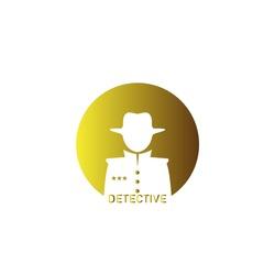 Spy detective design template. Criminal internet hacker logo. Investigation concept. Vector illustration