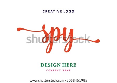 SPY lettering logo is simple, easy to understand and authoritative