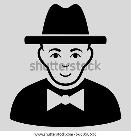 spy vector icon flat black