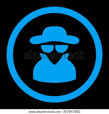 spy vector icon this rounded