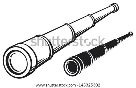 spyglass (illustration of a telescope)