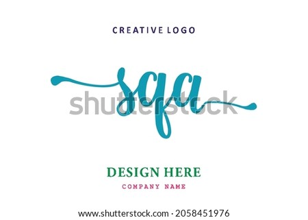 SQA lettering logo is simple, easy to understand and authoritative