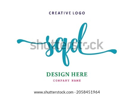 SQD lettering logo is simple, easy to understand and authoritative