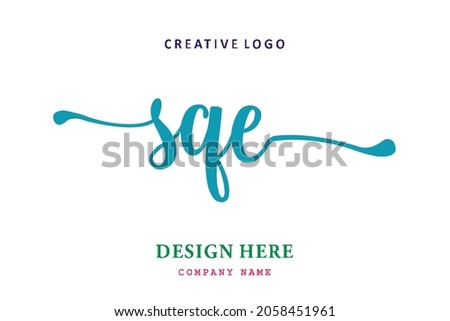 SQE lettering logo is simple, easy to understand and authoritative